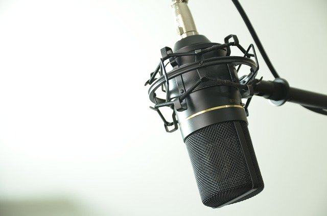 Micro en la radio
