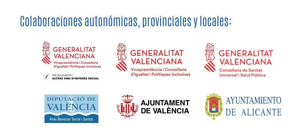 Colaboraciones autonomicas, prov, locales 2020